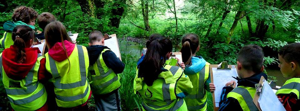 Pembroke Dock Community School enjoy an Otter Education field trip at Treffgarne Angling Centre