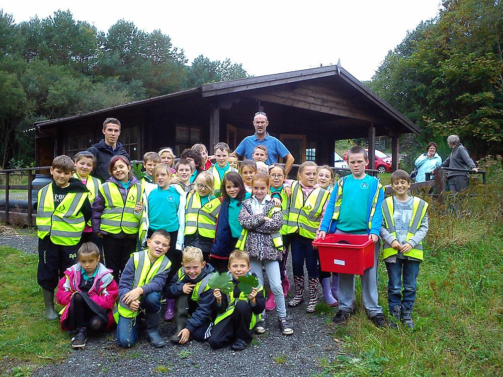 Hakin Community School learn about Otters in Pembrokeshire